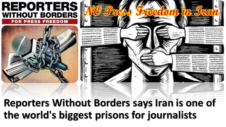 Reporters Without Borders says Iran is one of