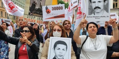 Sweden, Stockholm - Rally by the MEK Supporters at the Same Time as Henchman Hamid Noury's Trial - August 2021